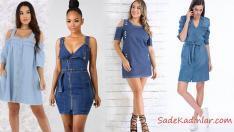 Asla Modası Geçmeyen Kot Elbise Modelleri