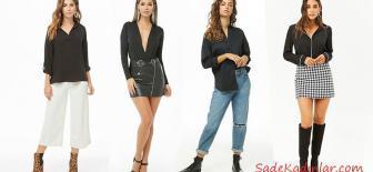 2019 Siyah Gömlek Kombinleri Bayanların Vazgeçilmezi