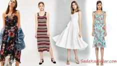 Ünlü Markalardan Günlük Midi ve Uzun Elbise Modelleri 2019