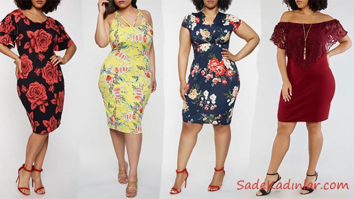 2019 Büyük Beden Yazlık Elbise Modelleri İle Şık Kombinler