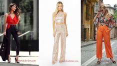 2019 Düğünleri İçin Şık Pantolon Bluz Kombinleri