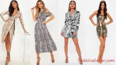 2019 Yılan Derisi Elbiseler İle En Popüler Şık Kombinler