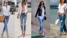 Jean Kombinleri 2019 Sokak Modası Bayan Spor Tarzı Giyim