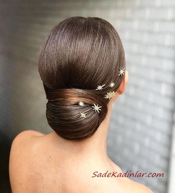 2019 Abiye Topuz Saç Modelleri