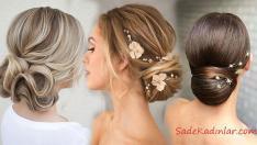 2019 Düğünleri İçin En Güzel Abiye Topuz Saç Modelleri