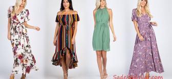 Günlük Şık Kombinleriniz İçin 2019 Yazlık Elbise Modelleri