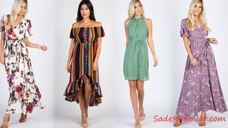 4673c99a66fe6 Günlük Şık Kombinleriniz İçin 2019 Yazlık Elbise Modelleri ...