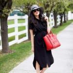 Hamile Kombinleri İçin Kıyafet Önerileri Siyah Uzun Gömlek Elbise