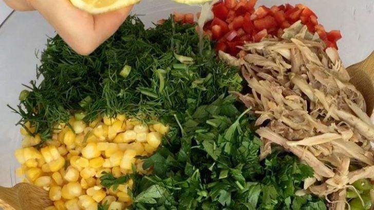 Tavuklu Salata Özellikle Diyet Yapanlar İçin Enfes Tarif
