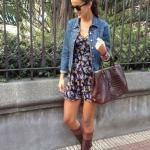 Bayan Kot Ceket Kombinleri Siyah Kısa Askılı Desenli Kısa Elbise Mavi Kot Cetek Kahverengi Deri Uzun Çizme