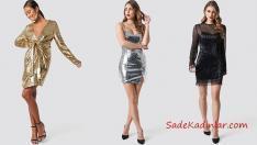 2019 Trendi Payetli Elbise Modelleri ile Şık Kombinler