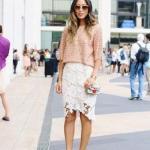 2019 Dantel Etek Kombinleri Beyaz Önü Kısa Arkası Uzun Dantel Etek Yavruağzı Bluz Bordo Stiletto Ayakkabı