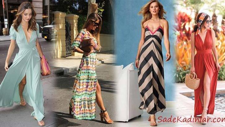 15 Yazlık Uzun Elbise Modelleri ve Şık Kombinler 2019