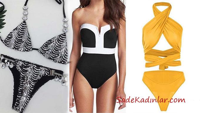 Plaj ve havuz başı partileri İçin şık bikini ve mayo modelleri