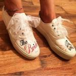 2020 Gelin Spor Ayakkabı Modelleri Beyaz Araba Figürlü Sneakers