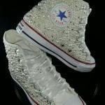 2020 Gelin Spor Ayakkabı Modelleri Beyaz İncili Converse