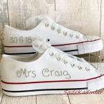 2020 Gelin Spor Ayakkabı Modelleri Beyaz İsim Baskılı Converse