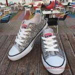 2020 Gelin Spor Ayakkabı Modelleri Gümüş Taşlı Converse