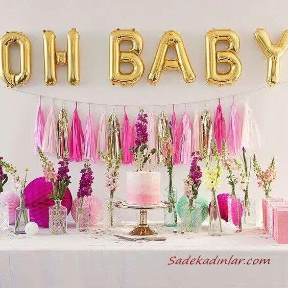 2020 Baby Shower Kız Bebek Parti Süsleme Önerileri
