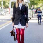 2020 Uzun Çizme Kombinleri Beyaz Mini Gömlek Elbise Siyah Uzun Ceket Kırmızı Deri Diz Üstü Çizme