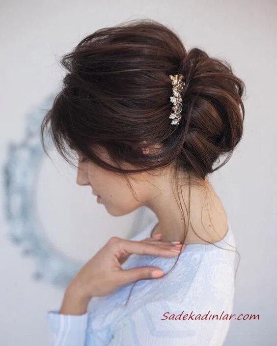 Saç Tokası İle Yapabileceğiniz 2020 Gelin Saç Modelleri