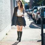 2020 Nubuk Etek Kombinleri Haki Mini Düğmeli Etek Beyaz Büstiyer Gri Uzun Hırka Siyah Topuklu Çizme