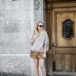 2020 Nubuk Etek Kombinleri Kahverengi Mini Etek Vizon Salaş Kazak Topuklu Kısa Bot