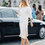 Bayanlar İçin 2020 Ofis Kombinleri Krem Midi Triko Etek Kazak Vizon Nubuk Topuklu Çizme