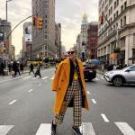 2020 Bayan Ekose Pantolon Kombinleri Sarı Bol Kesim Pantolon Bluz Uzun Kaşe Kaban Siyah Spor Ayakkabı