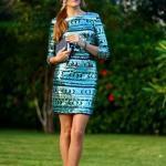2020 En Şık Düğün Elbiseleri ve Abiye Kıyafetler Yeşil Mini Uzun Kollu Kayık Yakalı Payetli