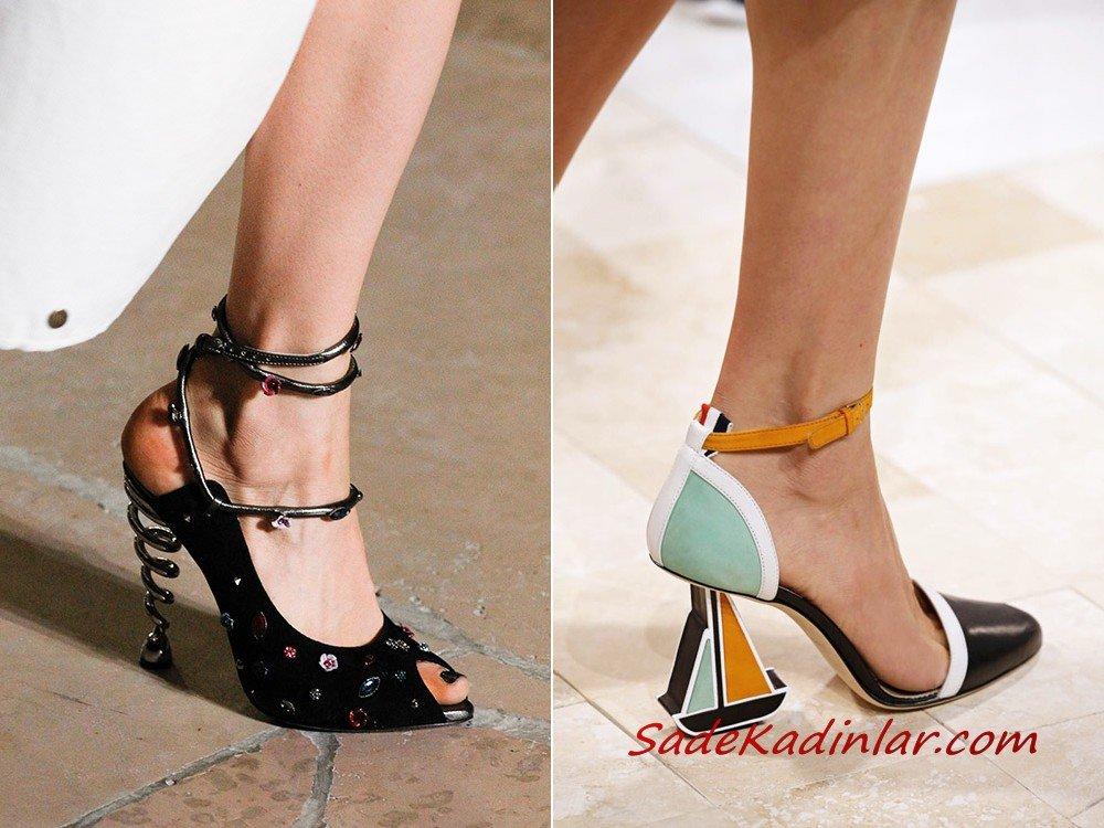 sıradışı topuklu ayakkabılar