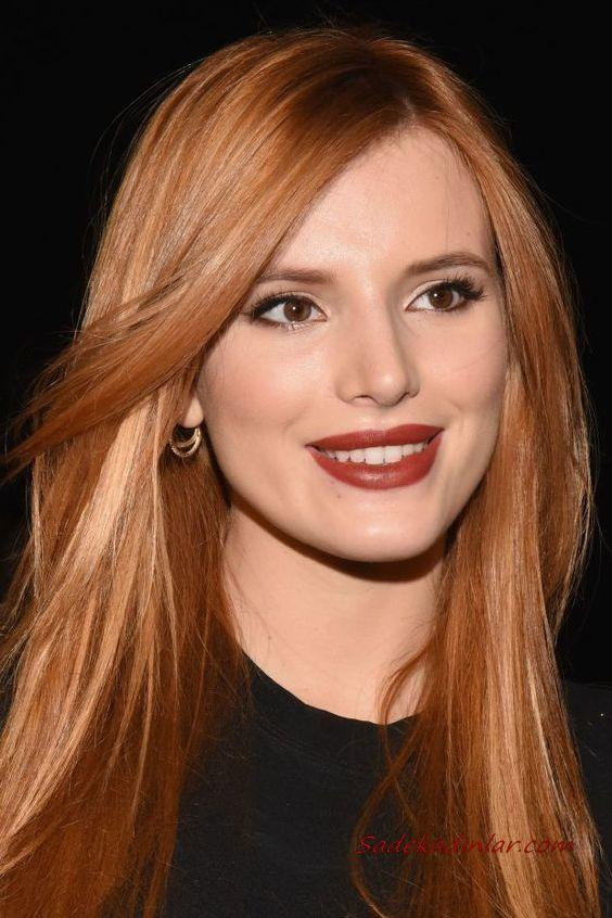 2020 En Trend Saç Renkleri ve Saç Modelleri Parlak Zencefil Tonları Uzun Düz Saç Modeli