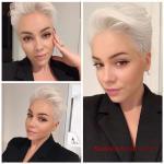 2020 En Şık Pixie Kısa Saç Kesim Modelleri Üstte Hacimli Gümüş Pixie