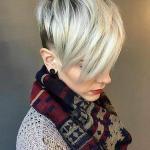 2020 En Şık Pixie Kısa Saç Kesim Modelleri Beyaz Sarışın Uzun Beyaz Patlama İle Düz Pixie