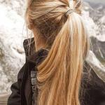 Günlük Kombinler İçin 2020 Uzun Saç Modelleri Fransız Örgülü At Kuyruğu